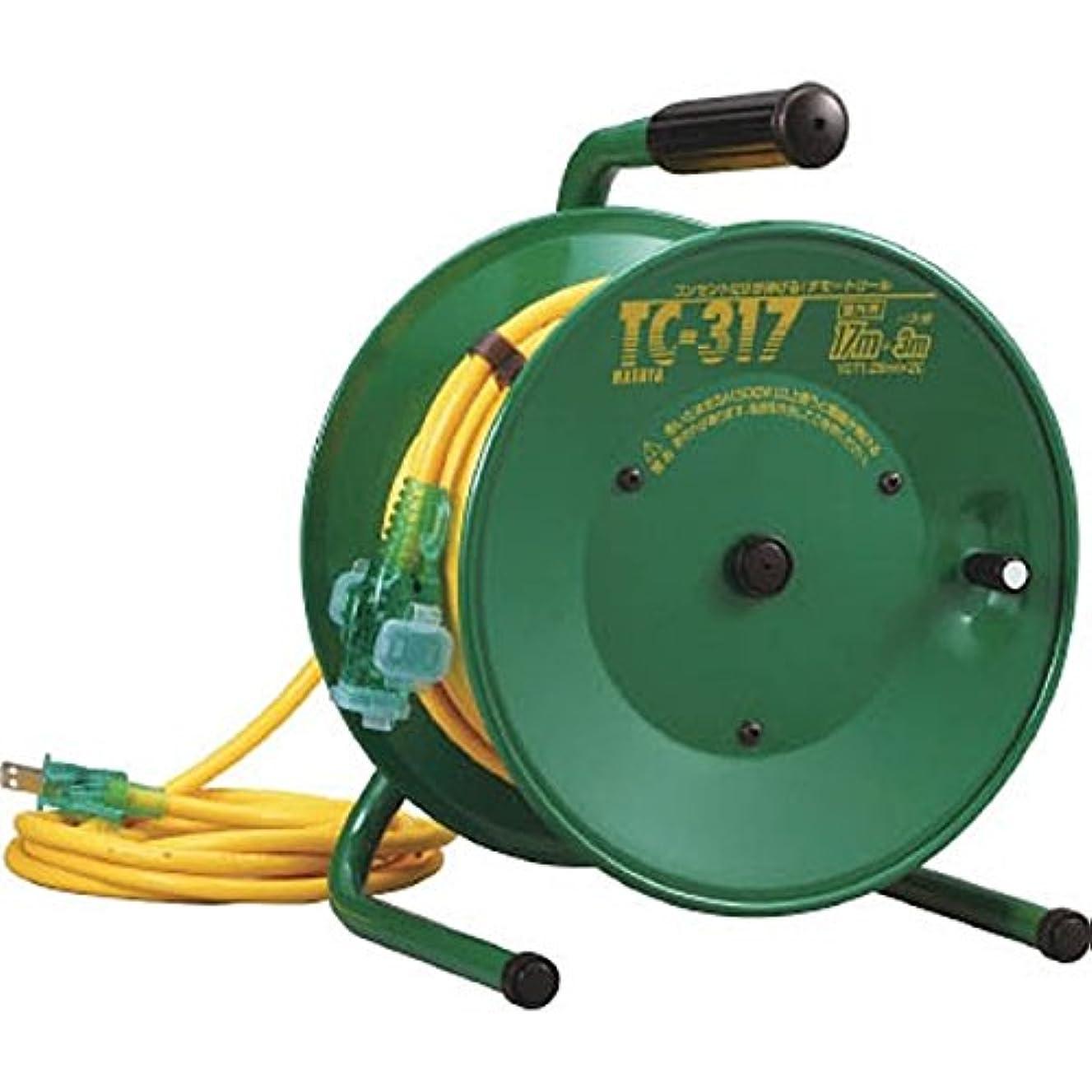 気取らない部分的にワークショップハタヤ 逆配電コードリール単相100V17+3m TC317 [その他]