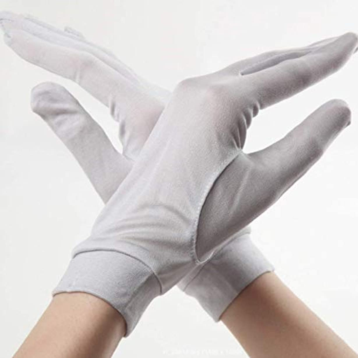 生き返らせるチラチラする利得全7色 ライトグレー 手荒れ対策 手袋 保湿ケアシルク手袋 おやすみ ハンドケア