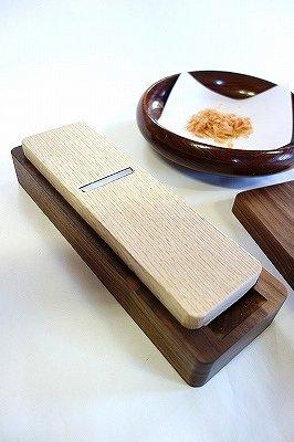 台屋の鰹節削り器 ウォルナット×SK 試し削り済 (蜂蜜) made in japan