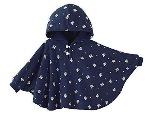 ange select リバーシブル フード 付き パーカー 男の子 女の子 キッズ ベビー ポンチョ 出産祝い プレゼント (ネイビー×ネイビーXS)