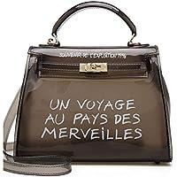 Women Clear Handbag Jelly Transparent Crossbody PVC Purse