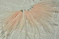 フェザー タッセル チャーム フラミンゴピンク 2個 10cm 羽 ファー イヤリング ピアス パーツ ハンドメイド ビーズクラブ