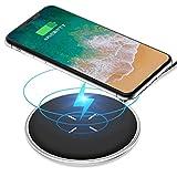 ワイヤレス充電器 Qiワイヤレスチャージャー Andobilスマホワイヤレス充電器 折り畳み式 置くだけ簡単充電 軽量ワイヤレス急速充電器 iPhone 8/8 Plus / Ⅹ / Galaxy S9 / S9+ / S8 /S8+ / S7 / S7 edge / S6 / 等 Android機種 Qi対応 (白) (ホウイト) (白) (丸型 プラグ)