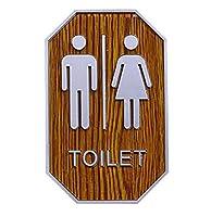 トイレ サインプレート 標識 表示板 トイレステッカー トイレ用ステッカー イン案内プレート サイン オフィス 店舗 洗面所 ホテル お手洗い ステッカー セット WC看板 (男女兼用)