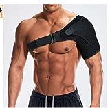 肩サポーター 左右兼用 ショルダーサポート 脱臼 肩こり 五十肩 四十肩 肩痛補助ベルト付き マジックテープ式 フリーサイズ 調節可能 簡単装着 加圧 肩の痛み解消 肩の固定 保護 安定 保温 怪我防止 男女適用 スポーツ用