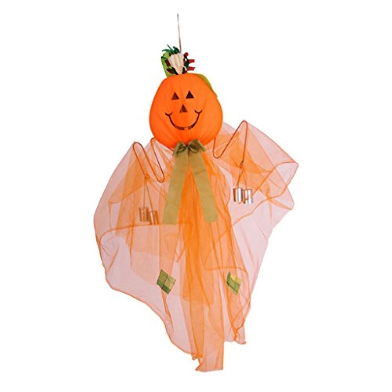 社会主義ルーフ親指ハロウィーンの装飾カボチャの風鈴の装飾の小道具装飾的なハロウィーン用品 (Color : WHITE)