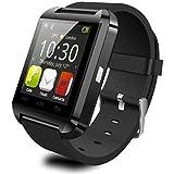 (ヨルコ)Yoluke Bluetooth smart watch U8 スマートウォッチ for iPhone 4/4S/5/5C/5S Android Samsung S2/S3/S4/Note 2/Note 3 HTC Sony Blackberry(ブラック)
