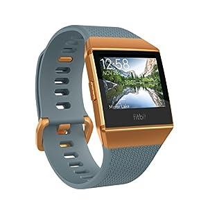 Fitbit フィットビット スマートウォッチ iONIC 心拍 睡眠 パーソナルコーチ GPS搭載 耐水性能 Slate Blue/Burnt Orange スレートブルー/バーントオレンジ L/Sサイズ【日本正規品】 FB503CPBU-CJK