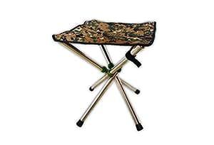 【GRANSTANDARD】 折りたたみチェア コンパクト チェア 椅子 簡単 軽量 伸縮 4脚 (迷彩)