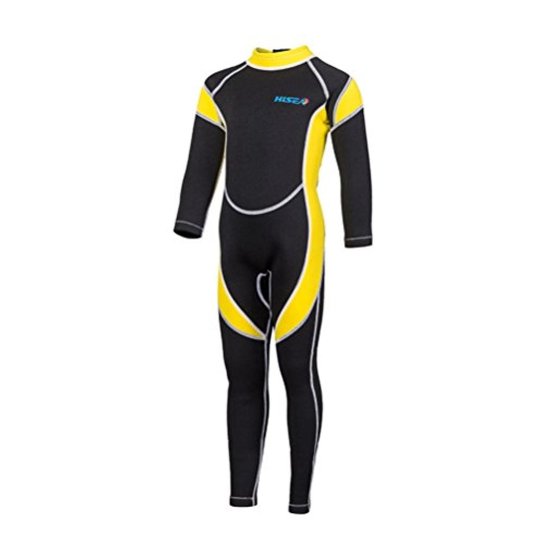 キッズ ウェットスーツ 2.5mm ダイビング フルスーツ サーフィン バックジップ 防寒保温ワンピースダイビングスーツロングスリーブUVカット