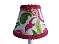 Silly Bear Lighting Paisley in Paradise Lamp Shade, Pink/Green [並行輸入品]