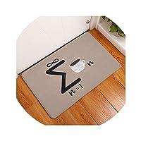 ダイアログの印刷フロアマットドアドアマットマット浴室ノンスリップバスルームベッドルームリビングルームカーペット、13,40X60Cmの中へ