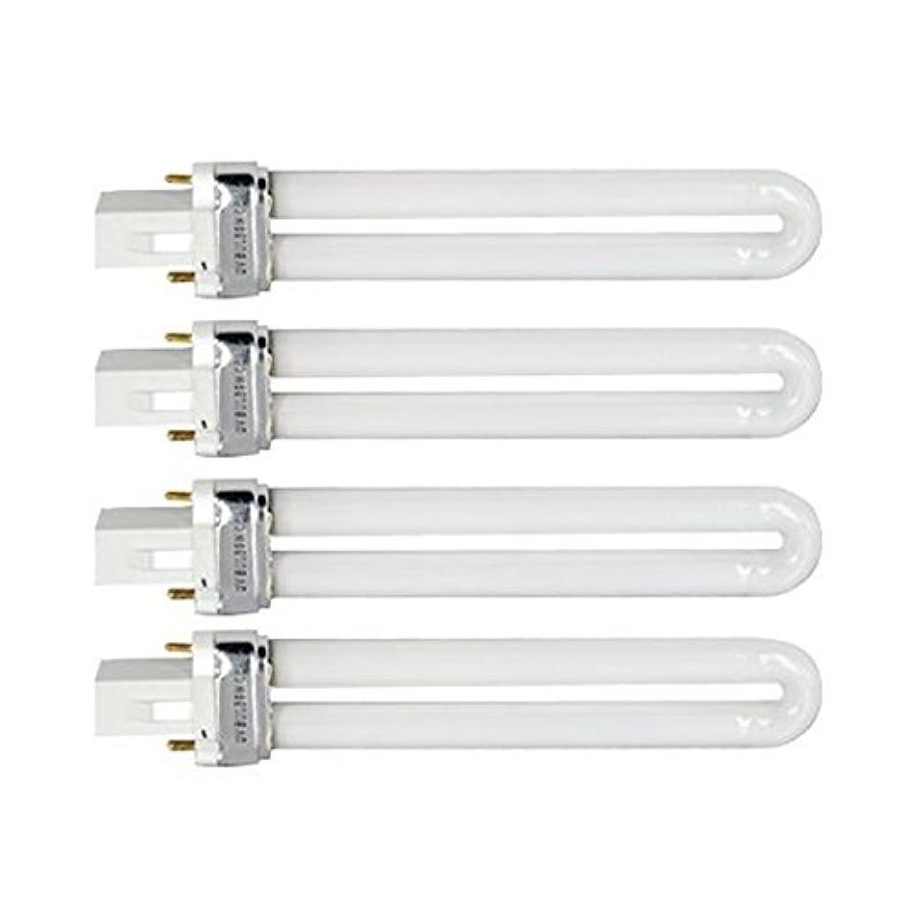 スタックでピースTinksky UV灯 紫外線 殺菌灯 電球交換 9 ワット U 型 365 nm ランプ電球チューブ ネイル アート Dryer-4 pcsset
