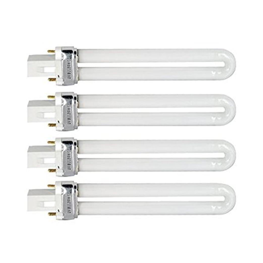 近傍創造出くわすTinksky UV灯 紫外線 殺菌灯 電球交換 9 ワット U 型 365 nm ランプ電球チューブ ネイル アート Dryer-4 pcsset