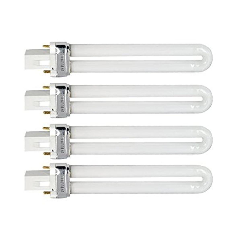旋回繰り返しボウルTinksky UV灯 紫外線 殺菌灯 電球交換 9 ワット U 型 365 nm ランプ電球チューブ ネイル アート Dryer-4 pcsset
