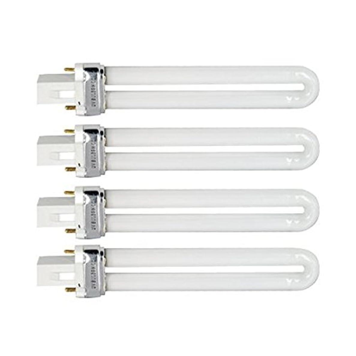 レジ女性矢印Tinksky UV灯 紫外線 殺菌灯 電球交換 9 ワット U 型 365 nm ランプ電球チューブ ネイル アート Dryer-4 pcsset