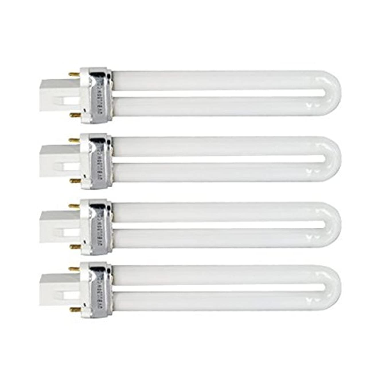 ウミウシオン思い出すTinksky UV灯 紫外線 殺菌灯 電球交換 9 ワット U 型 365 nm ランプ電球チューブ ネイル アート Dryer-4 pcsset