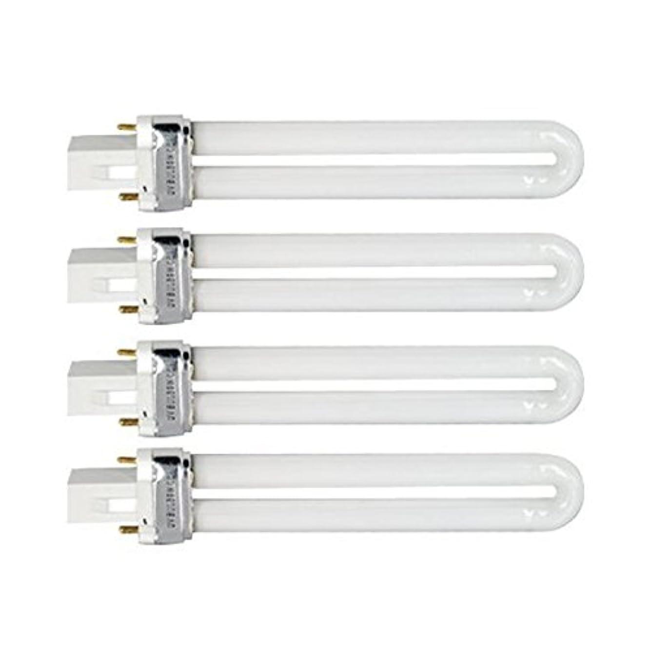 不正直設計図スイッチTinksky UV灯 紫外線 殺菌灯 電球交換 9 ワット U 型 365 nm ランプ電球チューブ ネイル アート Dryer-4 pcsset