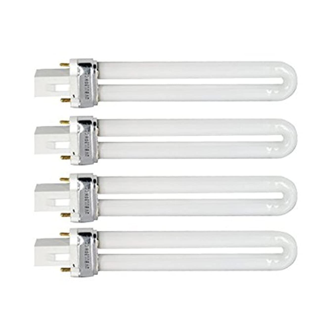 組み立てる実際の飽和するTinksky UV灯 紫外線 殺菌灯 電球交換 9 ワット U 型 365 nm ランプ電球チューブ ネイル アート Dryer-4 pcsset