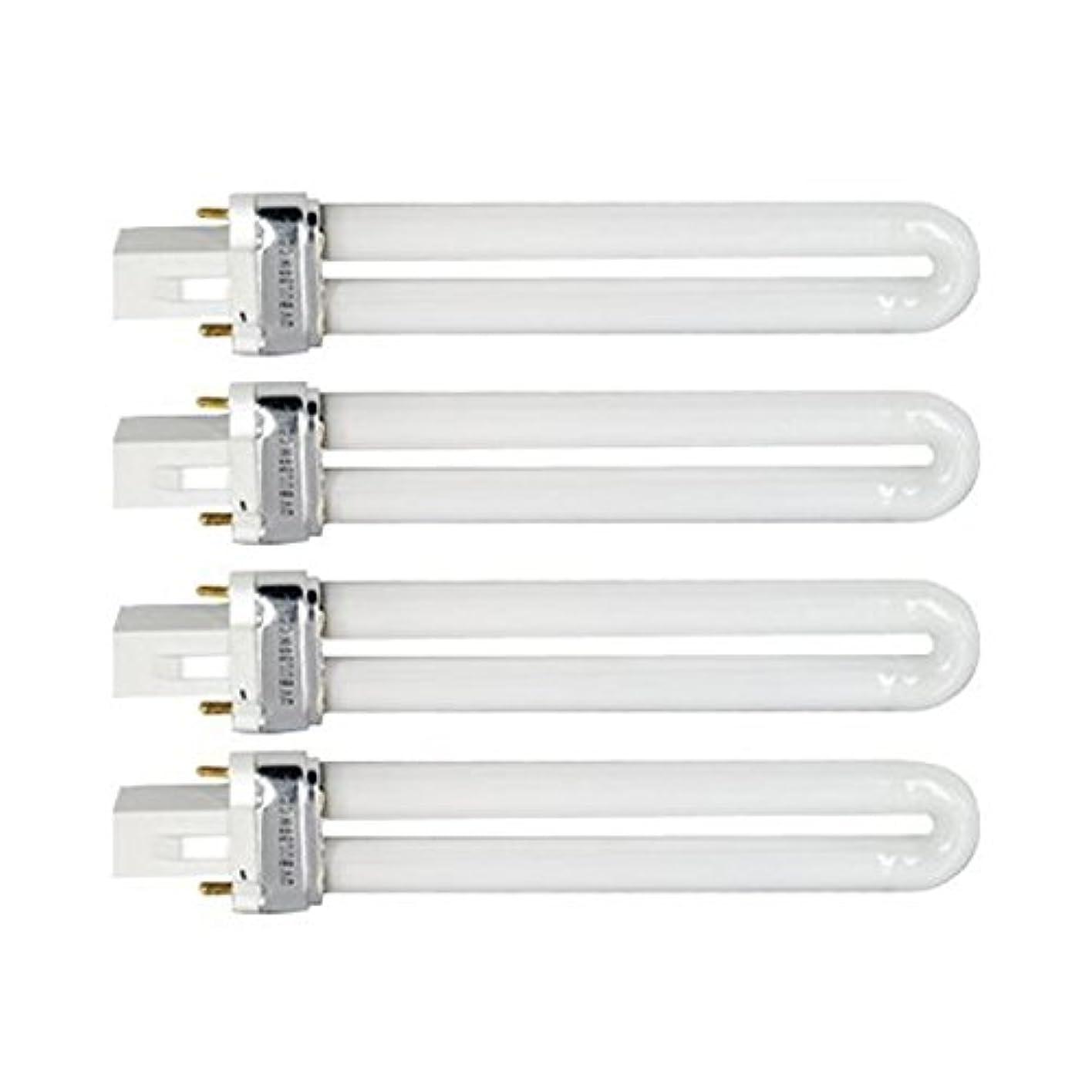 オーバーヘッド確認してください楽しませるTinksky UV灯 紫外線 殺菌灯 電球交換 9 ワット U 型 365 nm ランプ電球チューブ ネイル アート Dryer-4 pcsset