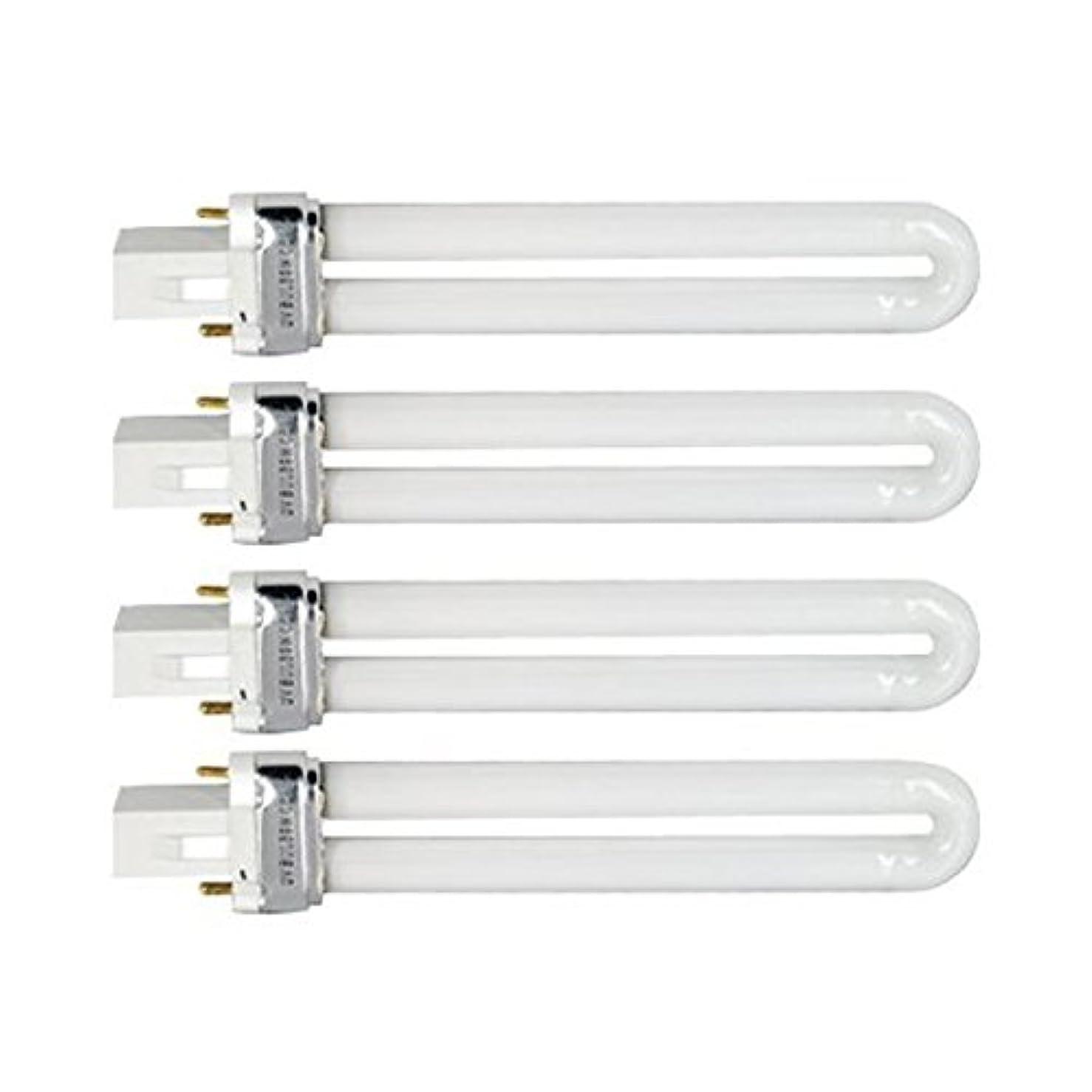 ティームレンダリング貢献するTinksky UV灯 紫外線 殺菌灯 電球交換 9 ワット U 型 365 nm ランプ電球チューブ ネイル アート Dryer-4 pcsset