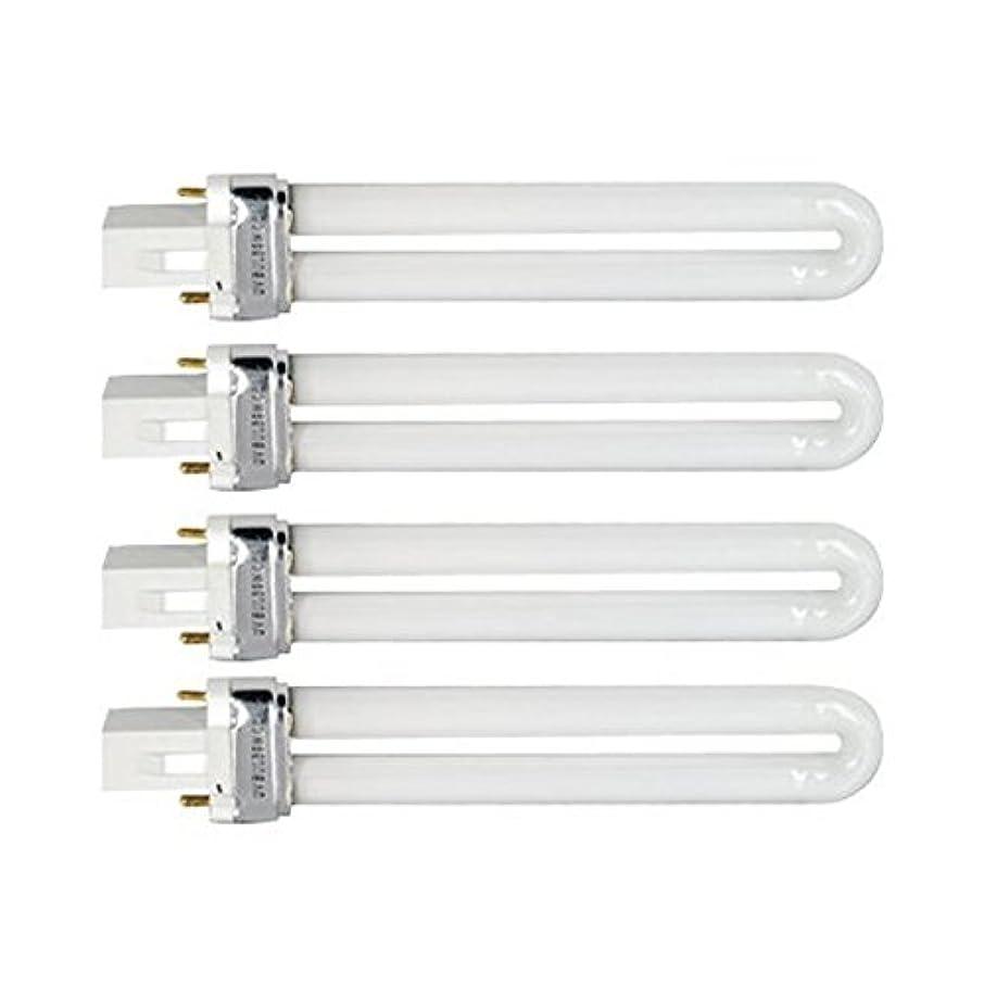 ゴミ箱うっかり無視Tinksky UV灯 紫外線 殺菌灯 電球交換 9 ワット U 型 365 nm ランプ電球チューブ ネイル アート Dryer-4 pcsset