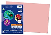 Riverside Paper Groundwood Construction Paper, 12in. x 18in., Salmon [並行輸入品]