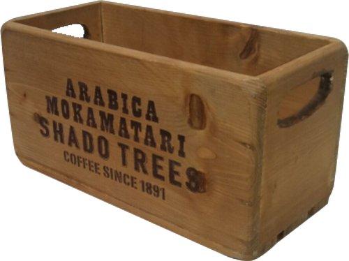 丸和貿易 収納 木箱 パインウッド ボックス ナチュラル 400792001...