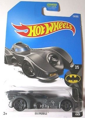 Hot Wheels 2017 Batman Batmobile (1989 Movie) 134/365, Gray [並行輸入品]