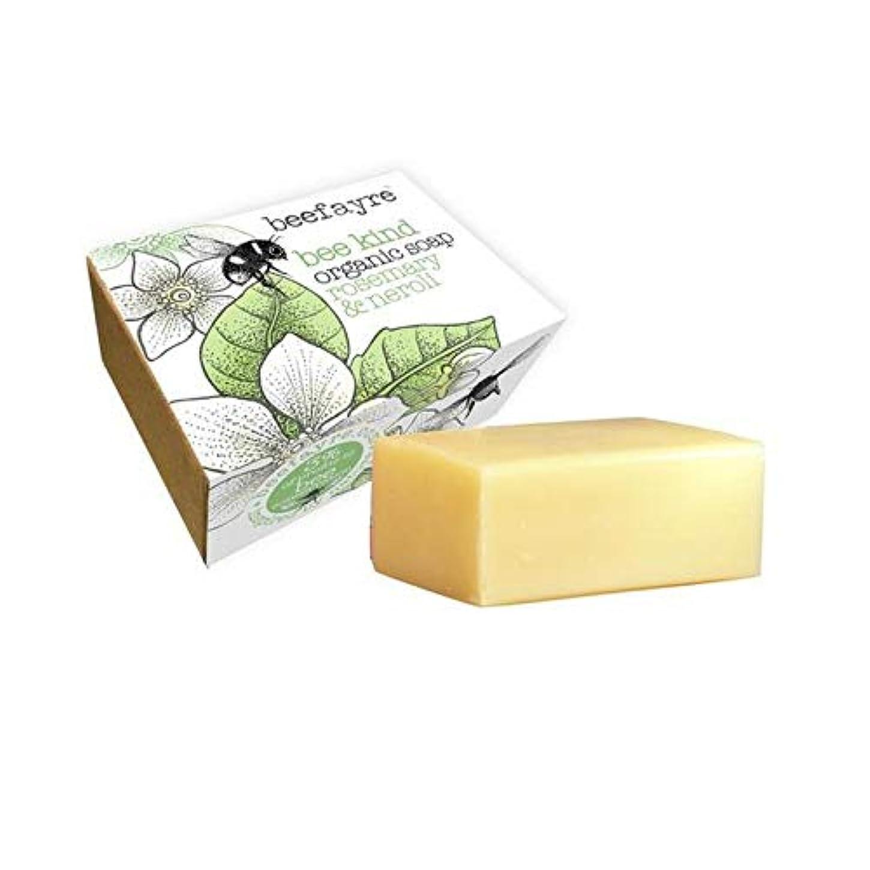 詳細な咽頭以内に[Beefayre] 有機ローズマリー&ネロリソープバー100グラムBeefayre - Beefayre Organic Rosemary & Neroli Soap Bar 100g [並行輸入品]