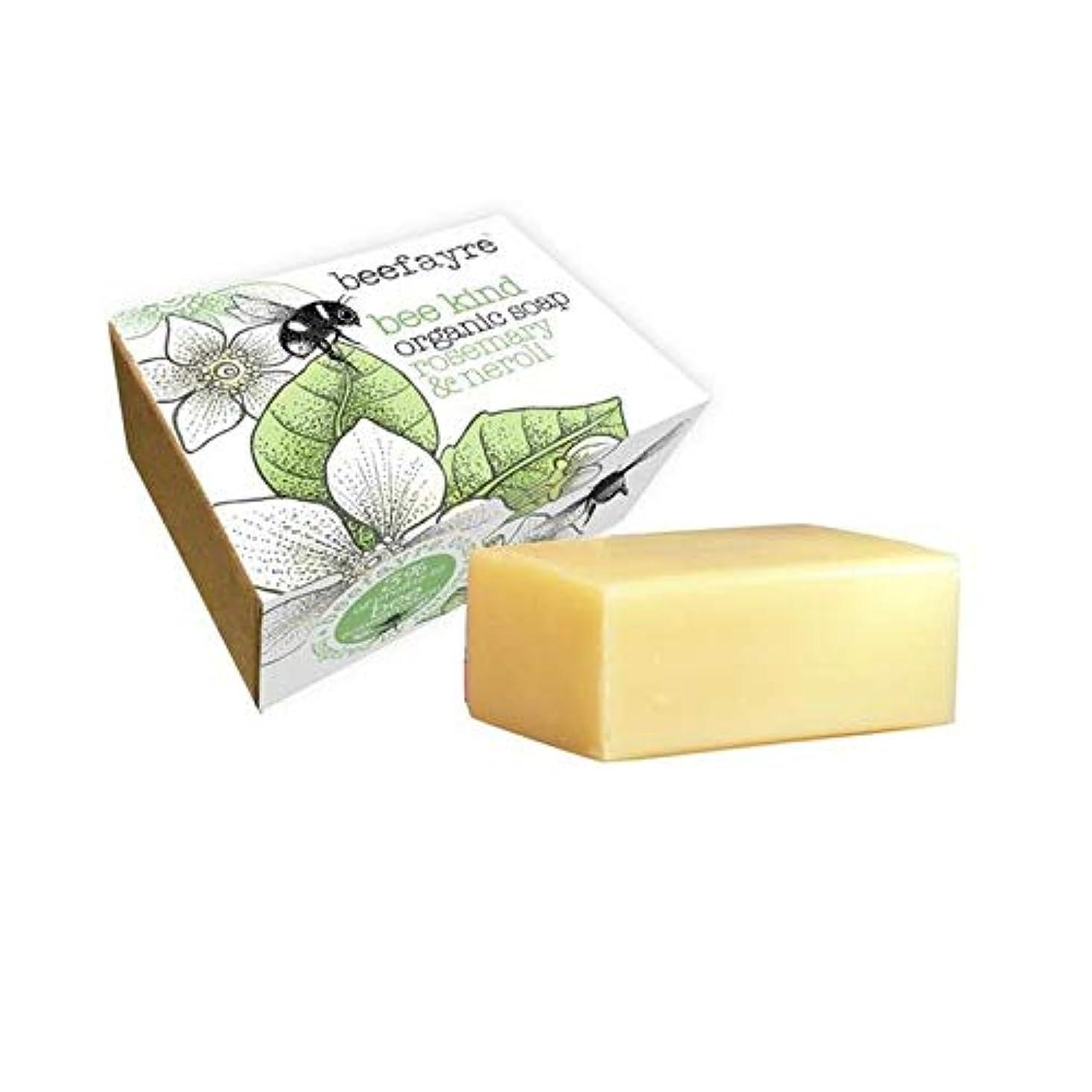 自分の限り慣れている[Beefayre] 有機ローズマリー&ネロリソープバー100グラムBeefayre - Beefayre Organic Rosemary & Neroli Soap Bar 100g [並行輸入品]