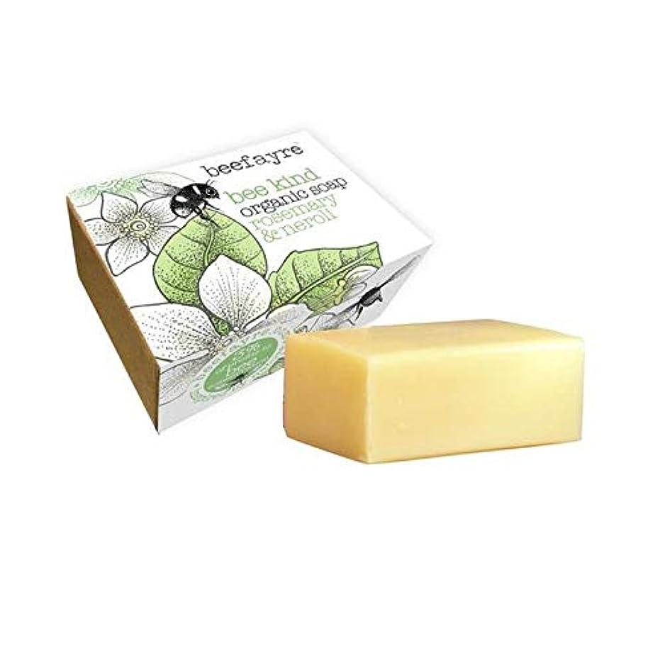 質素なアマチュア修復[Beefayre] 有機ローズマリー&ネロリソープバー100グラムBeefayre - Beefayre Organic Rosemary & Neroli Soap Bar 100g [並行輸入品]