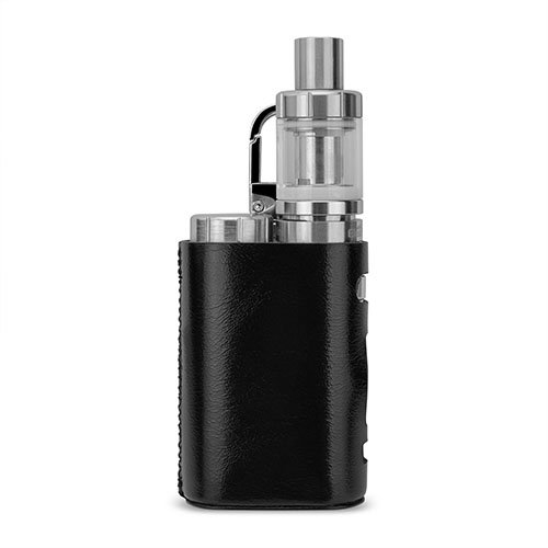 WISTERIAS Leather case for Eleaf iStick Pico (Grus: Black) 本革使用のハンドメイド高級レザーケース