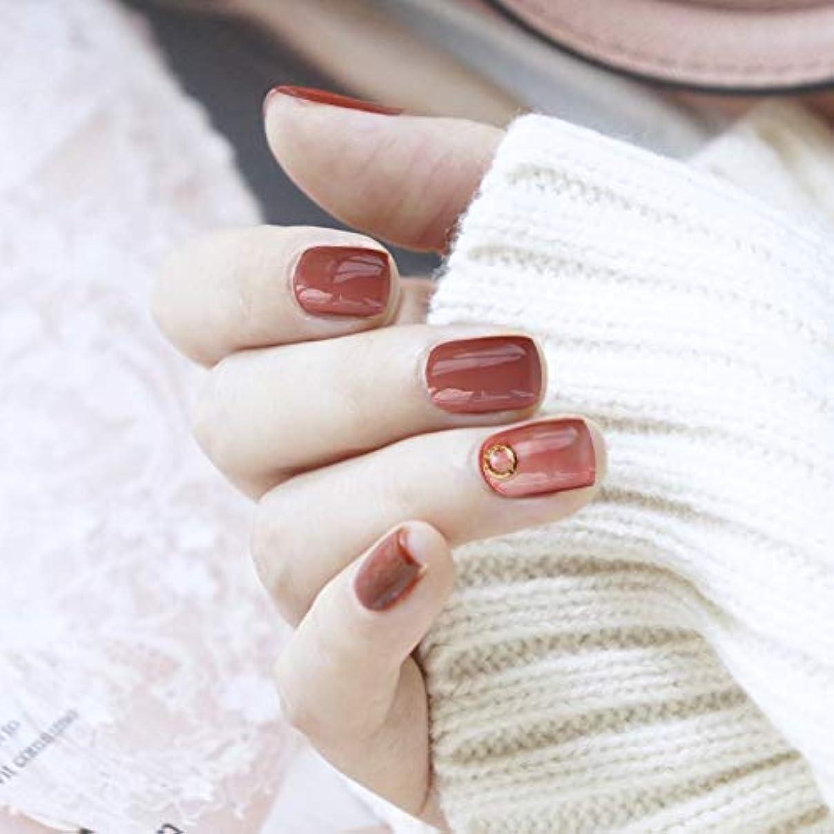 カップテキスト生むVALEN Nail Patch ネイルチップ 手作りネイルチップ ネイルジュエリー つけ爪 24枚入 フルチップ シンプル 結婚式、パーティー、二次会などに ネイルアート 赤