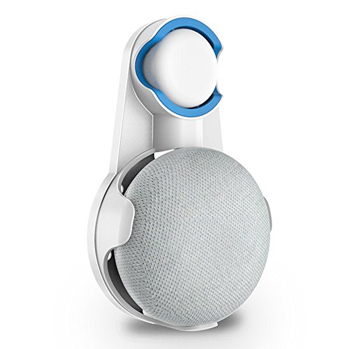 Google Home Mini に対応 壁掛け マウント スタンド カバー 保護ホルダー コード収納 スマート グーグルホームミニ アクセサリー (ホワイト)