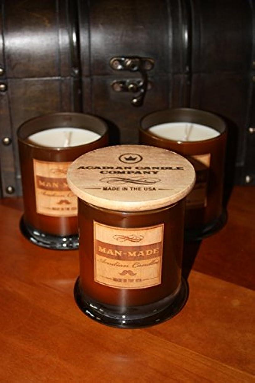 ポップ麻痺口Acadian Candle 11354 Man-Made Candle, Musk