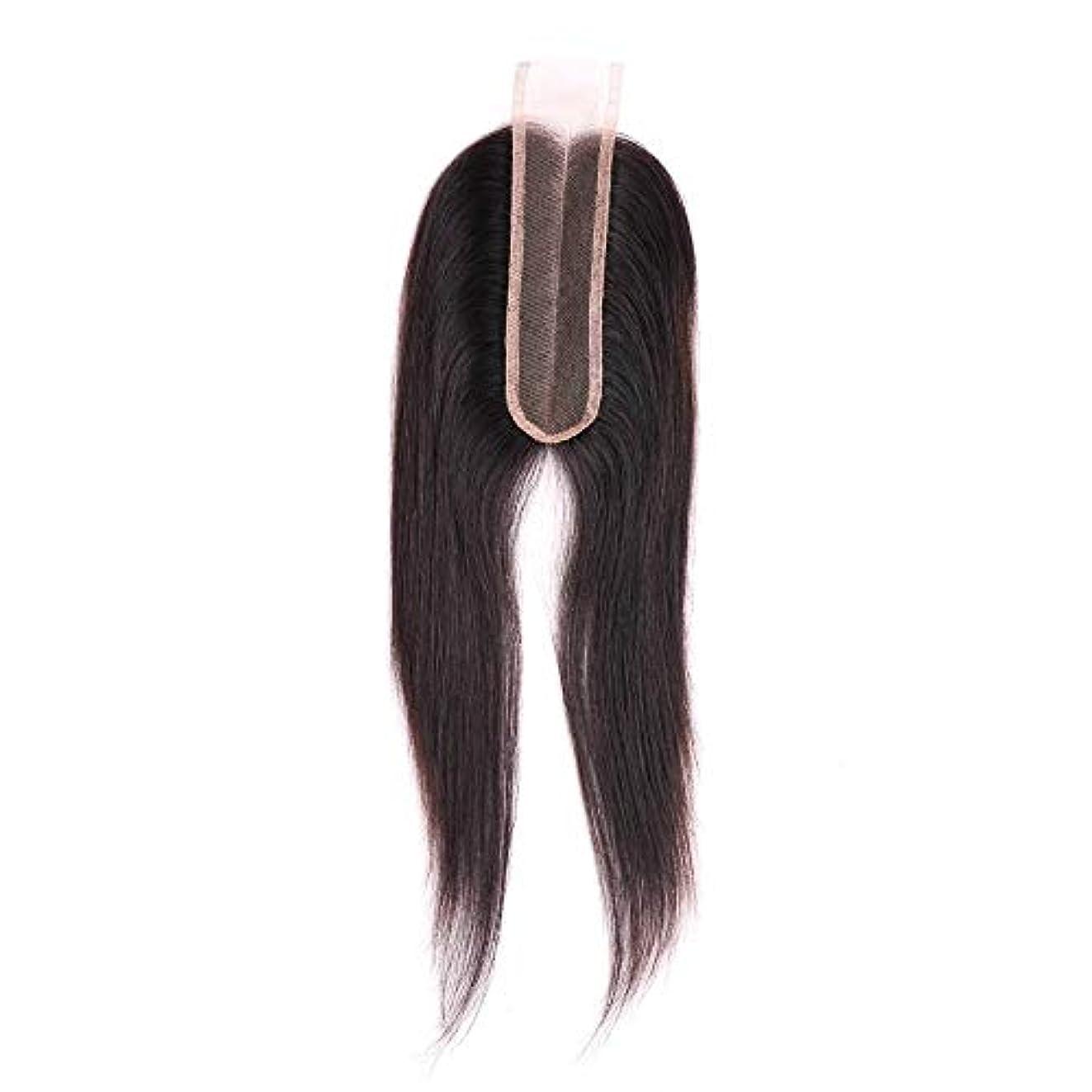シャツ感謝祭二週間SRY-Wigファッション 黒人女性のためのファッションストレートレースフロントウィッグベビーヘアレースフロントウィッグ付きブラジル人毛ウィッグ (Color : ブラック, Size : 18inch)