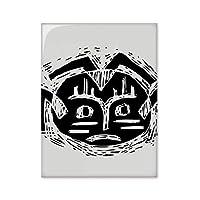 怖いサークルブラックインディアン祭司の聖職者を犠牲にしてトーテムタトゥーイラストパターン 台所のタイルタイルが装飾を飾る