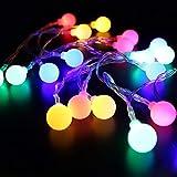 Saytay LED飾りライト LEDイルミネーションライト ストリングライト 間接照明 6M40球 電池式 防水 ロマンチック雰囲気 クリスマス ハロウィン パーティー 装飾用 (マルチカラー)