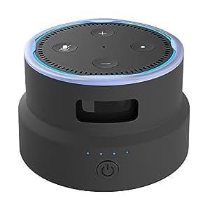 Smatree Echo Dot (エコードット) 第2世代用充電台 ポータブルバッテリーベース 6800mAhバッテリー内蔵 13時間まで再生延長
