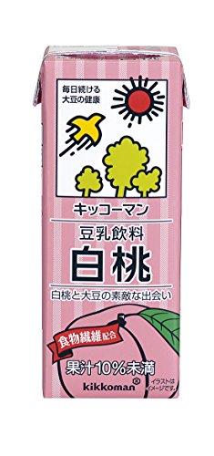 キッコーマン飲料 豆乳飲料 白桃 200ml×18本