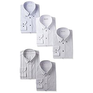 [アトリエサンロクゴ] ワイシャツ 選べる 5枚セット 長袖Yシャツ/at101 メンズ at101 NAセット-シャープ 日本 4L(47-86) レギュラー (日本サイズ4L相当)
