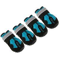 Fenteer Dog Shoes Dog Boots Waterproof Rain Shoes for Medium to Large Dog Labrador Husky