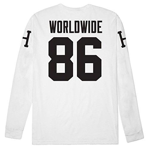 (ハフ) (ハフ) HUF Tシャツ ロンT AUDIBLE L/S TEE [TS53031] 【huf266】 L WHITE [並行輸入品]