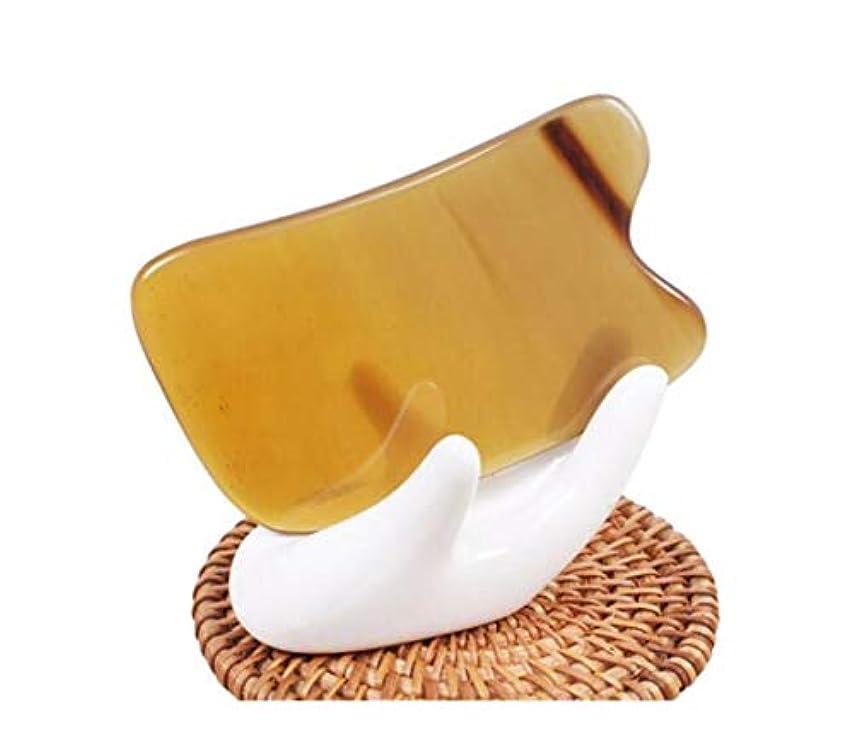 ためらうクラウド敷居Jinnuotong スクラッチマッサージツール、ホーンスクレイピングボード・フェイシャル目のシェービング ,肌を傷つけない (Color : Yellow, Size : 9.5*6cm)