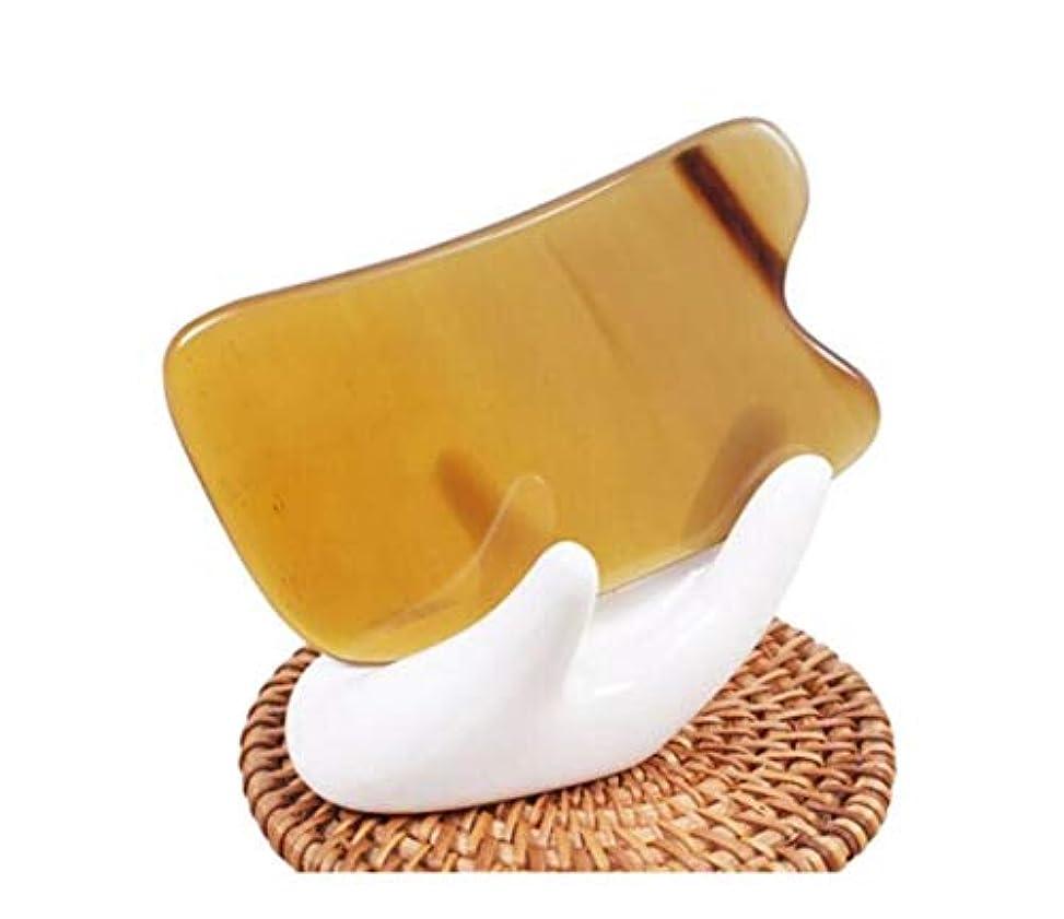 イヤホン破産経済Yougou01 スクラッチマッサージツール、ホーンスクレイピングボード?フェイシャル目のシェービング ,丸い角 (Color : Yellow, Size : 9.5*6cm)
