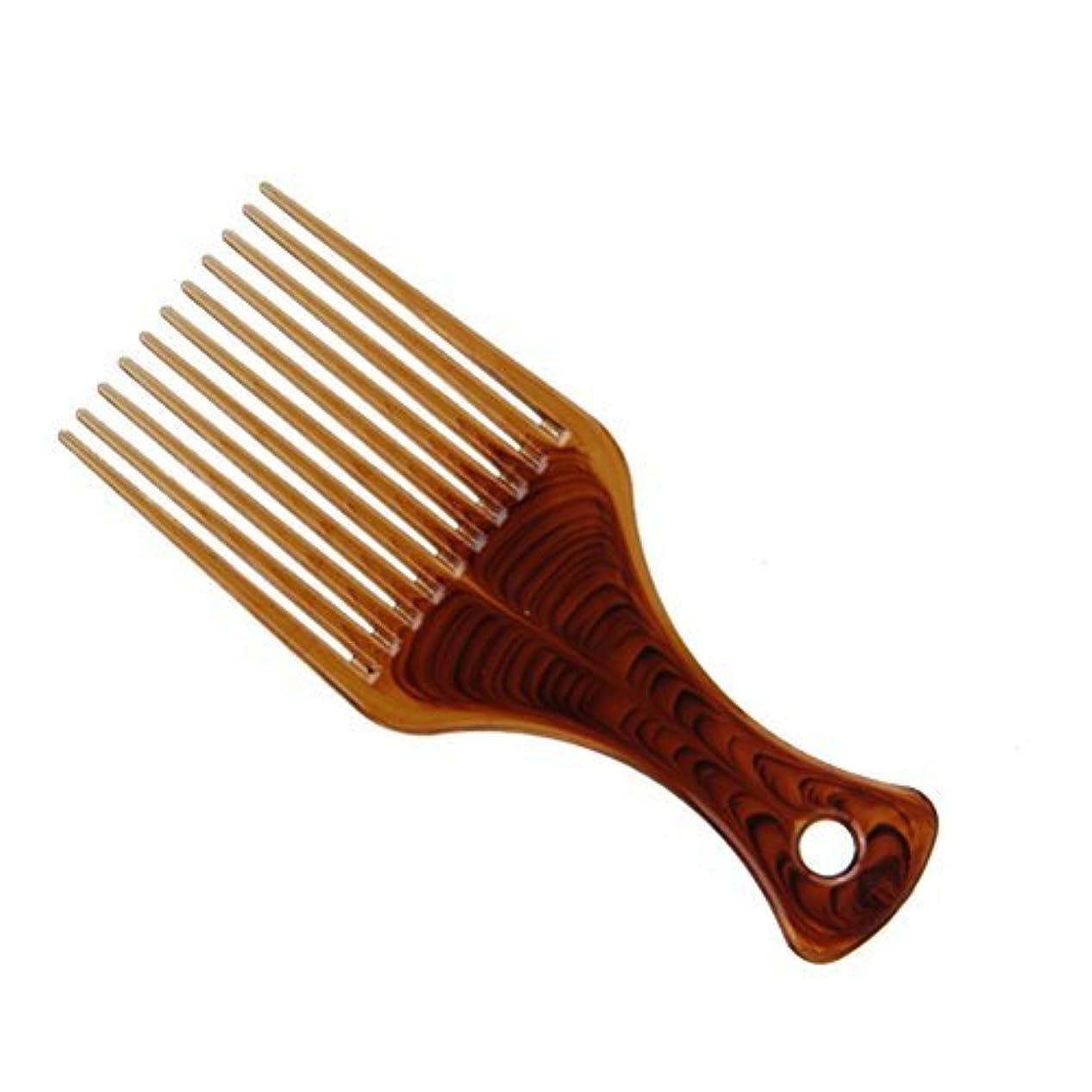 予防接種する無一文誇張するUltra Smooth No Frizz Hair Lift Pick Comb for Hairstyle (Coffee) [並行輸入品]