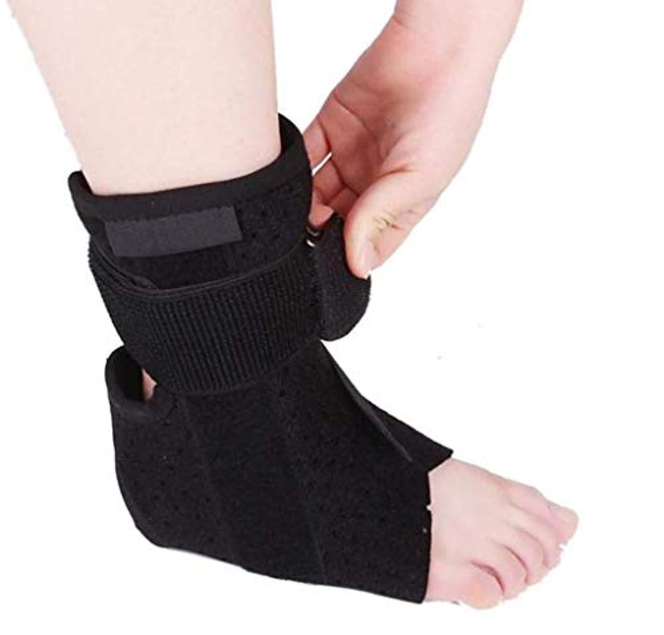 性交悪魔大洪水ドロップフットブレース、負傷回復のためのドロップフットサポートスプリント圧縮、関節痛などの 足ドロップ装具足首ブレースサポート保護-ユニセックス