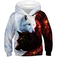 Ainuno Teen Boys Girls Hoodies Novelty Galaxy Unicorn Sweatshirts Pullover 13-15Y