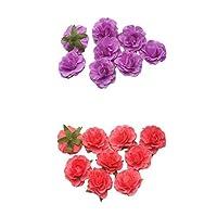 SM SunniMix 綺麗な 美しい 造花 ミニチュア  人工 シルク ローズ フラワーヘッド 装飾花 40個